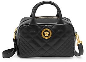 Versace Women's Quilted Leather Box Tote Bag