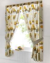 Fashion World Dumper Trucks Lined Curtains & Tie Backs