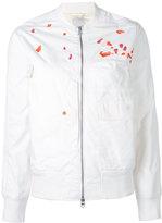 MHI embroidery bomber - women - Cotton/Nylon - 10