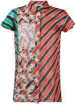 Marco De Vincenzo stripe floral print shirt - women - Silk/Polyester - 42