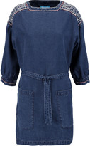 MiH Jeans Duke embroidered chambray mini dress