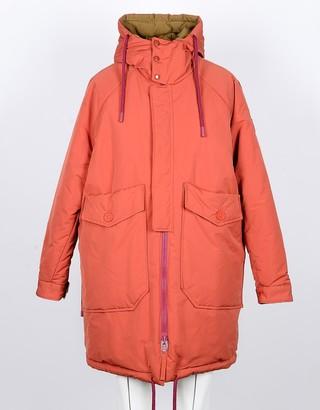 Oof Wear Orange/Mustard Yellow Reversible Women's Padded Coat