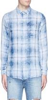 Denham Jeans Check plaid flannel shirt