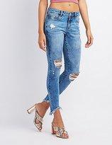 Charlotte Russe Refuge Destroyed Skinny Jeans