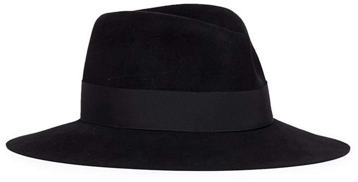 Maison Michel Virginie' swirl rabbit furfelt fedora hat