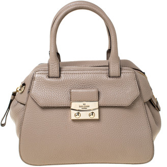 Kate Spade Dark Beige Leather Front Flap Pocket Satchel
