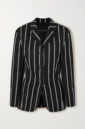 Proenza Schouler Striped Twill Blazer - Black