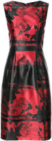 Carolina Herrera graphic rose sheath dress