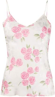 Christian Dior Pre-Owned 2000s silk floral textured camisole