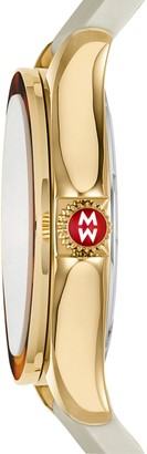 Michele Cape Quartz, Stainless Steel & Silicone Strap Watch