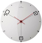 "Oliver Hemming Wall Clock with Dot and Number Dial - White (141⁄2"")"