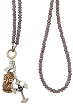 Catherine Michiels Lavender Bohemian Crystal Necklace