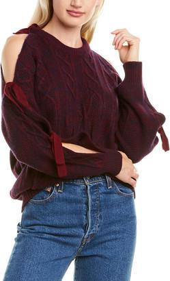Naadam Cold-Shoulder Wool & Cashmere-Blend Sweater