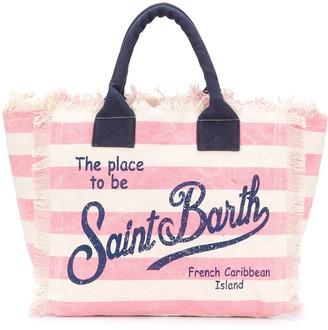 MC2 Saint Barth Vanity striped-print tote