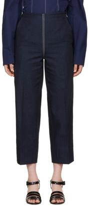 Cédric Charlier Blue Front Zip Jeans