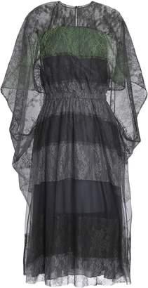 Valentino Cape-effect Paneled Silk-lace Dress