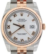 Rolex Datejust 116231 Rose Gold/ Stainless Steel Jubilee Mens 36mm Watch