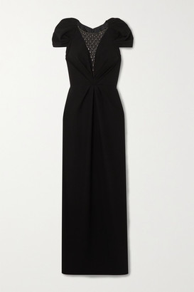 Jenny Packham Noe Embellished Tulle And Crepe Gown - Black