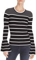 Aqua Striped Bell Sleeve Sweater - 100% Exclusive