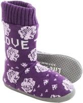 Life is Good Love Today Floral Slipper Socks (For Women)