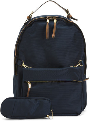 Corduroy Backpack With Pencil Case