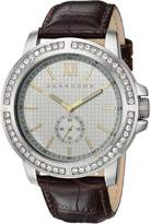 Sean John Men's ' Quartz Metal and Leather Dress Watch, Color:Brown (Model: SJC0172001)