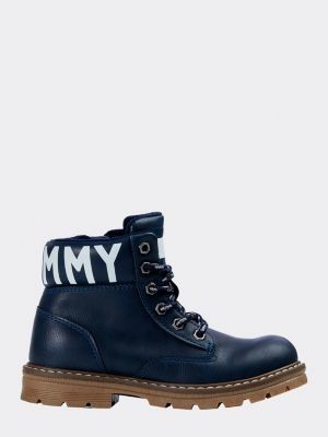 Tommy Hilfiger Lace-Up Logo Booties
