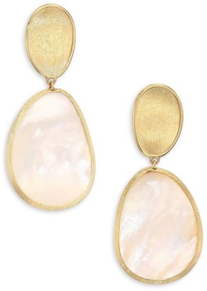 Marco Bicego Lunaria 18K Yellow Gold & White Mother-Of-Pearl Earrings