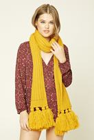 Forever 21 Tassled Ribbed Knit Scarf