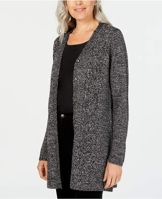 Karen Scott Long Cardigan Sweater