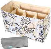 KF Baby Diaper Bag Insert Organizer, Firm Compartments + Changing Pad Combo