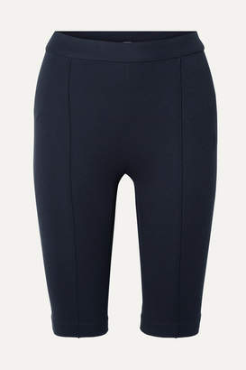 Rosetta Getty Stretch-jersey Shorts - Midnight blue