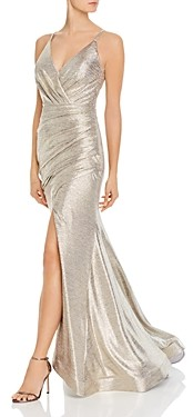 Aqua Metallic Knit Gown - 100% Exclusive