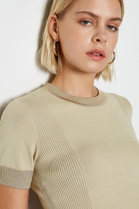 Karen Millen Essential Rib Panel Knit Jumper