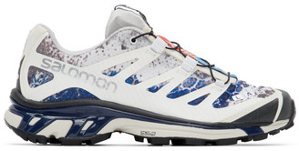 Salomon White and Blue Limited Edition XT-4 ADV Sneakers