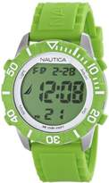 Nautica Unisex N09926G NSR 100 Green Digital Watch