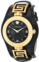 Versace Women's VLA020014 V-SIGNATURE Analog Display Swiss Quartz Black Watch