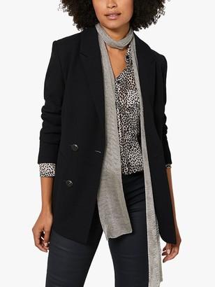 Mint Velvet Double Breasted Tailored Blazer, Black