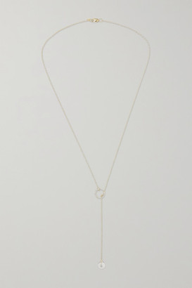 Mateo 14-karat Gold, Pearl And Diamond Necklace - one size