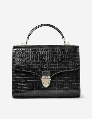 Aspinal of London Mayfair leather crocodile-print mini bag