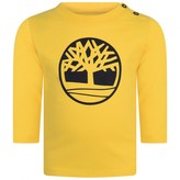 Timberland TimberlandBaby Boys Yellow Cotton Logo Top