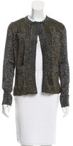 Gianfranco Ferre Knit Metallic-Accented Cardigan