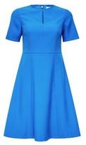 Dorothy Perkins Womens Dp Petite Cobalt Fit And Flare Dress, Cobalt