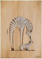 Oopsy Daisy Fine Art For Kids Safari Kisses Zebra Canvas Wall Art