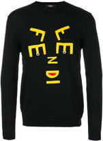 Fendi abstract letter jumper