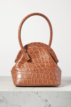 Louise et Cie Isel Croc-effect Leather Tote - Light brown