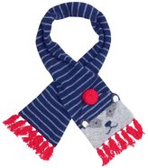 Jo-Jo JoJo Maman Bebe Badger Scarf - Navy/Blue Stripe-One Size