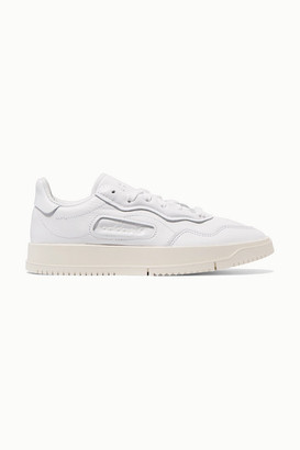 adidas Sc Premiere Textured-leather And Nubuck Sneakers - White