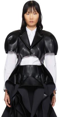Comme des Garcons Black Faux-Leather Body Form Jacket