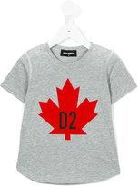 DSQUARED2 maple leaf T-shirt - kids - Cotton - 12 yrs